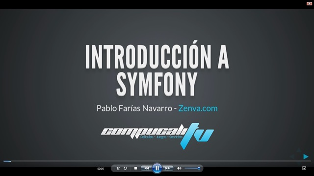 Curso Introducción al Desarrollo de Aplicaciones Web con Symfony