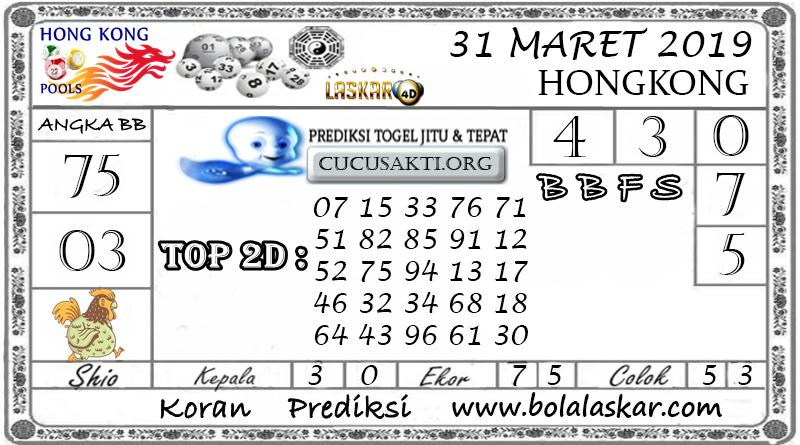 Prediksi Togel HONGKONG LASKAR4D 31 MARET 2019
