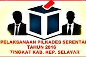 Data Nama Calon Kades Pada Pilkades Serentak 2016 Tingkat Kabupaten Kep. Selayar