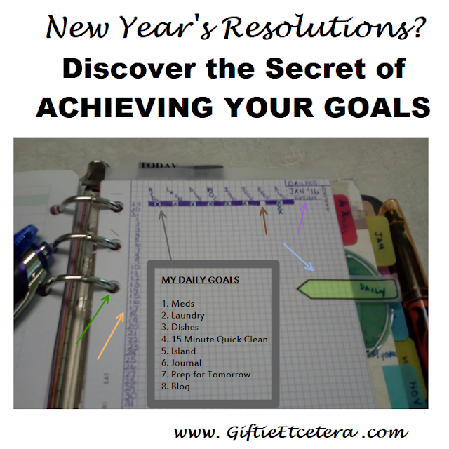 New Year's Resolutions, paper planner, graph paper insert