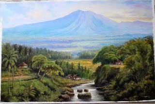 Lukisan Pemandangan Alam; Karya seni rupa yang estetid
