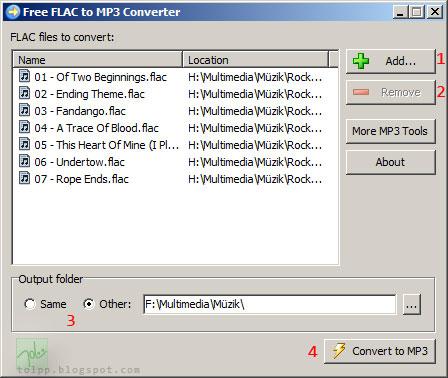 Flac To Mp3 >> Tolpp Flac Dosyalarini Mp3 E Cevirmek Donusturmek Flac To Mp3