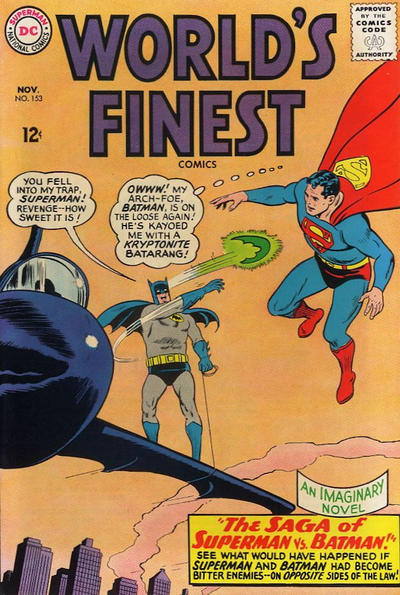 Episode #389 Part I: Superman Family Comic Book Cover Dated November 1965: World's Finest Comics #153!