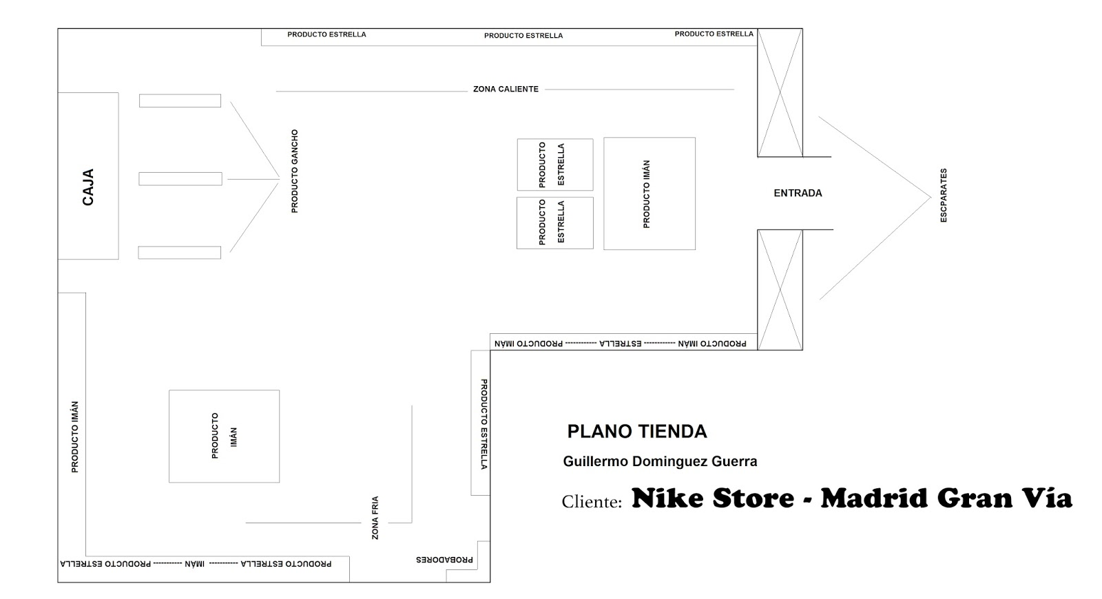 corriente Oscurecer horizonte  Guillermo Domínguez Guerra: NIKE STORE LAYOUT PROPOSAL FOR MADRID