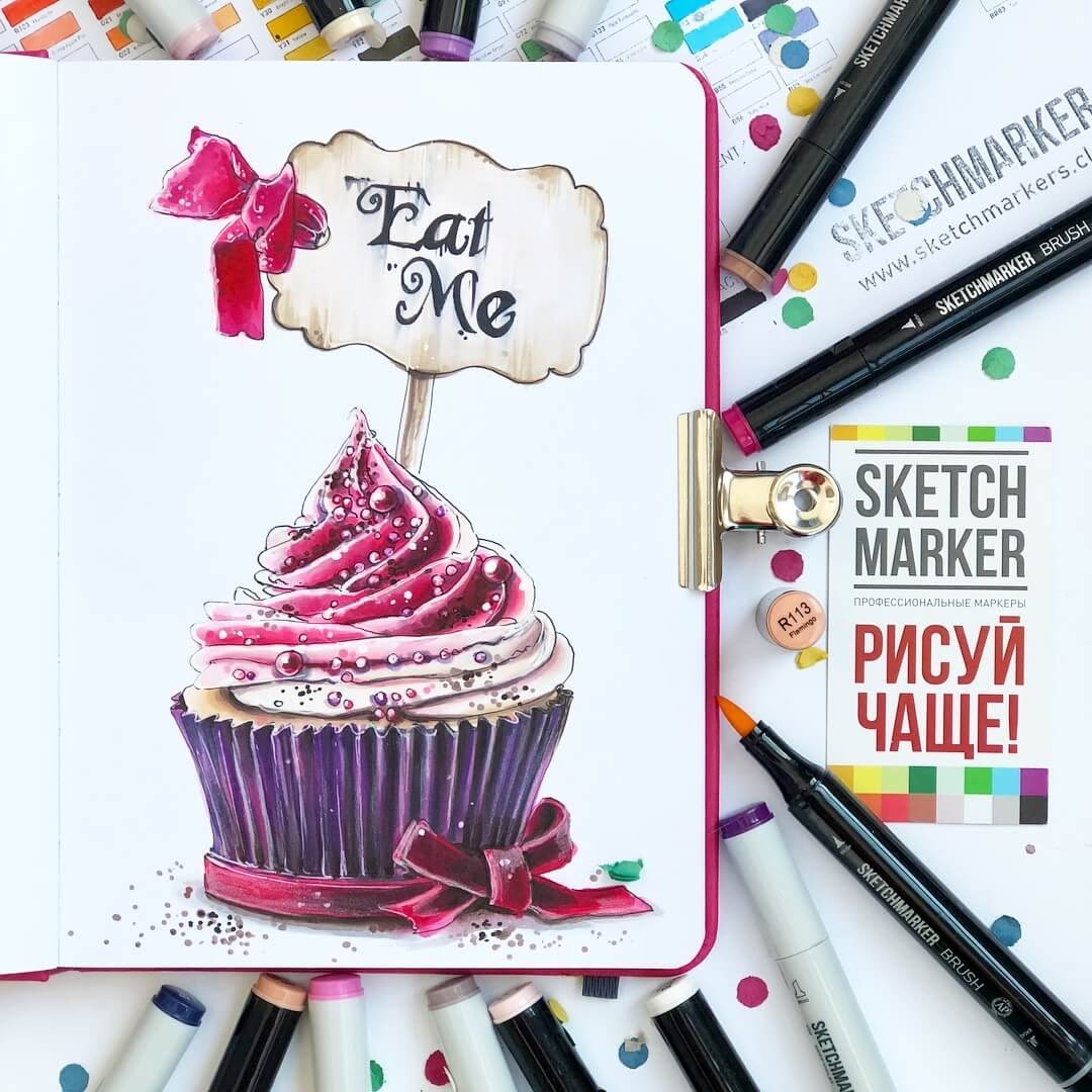 09-Eat-Me-Cupcake-Irina-Shelmenko-Ирина-Шельменко-Travel-Diary-Sketches-and-Moleskine-Drawings-www-designstack-co