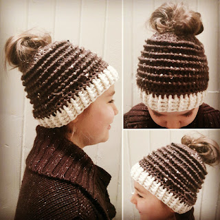 Messy Bun or Ponytail Hat Pattern by LoopyKidz