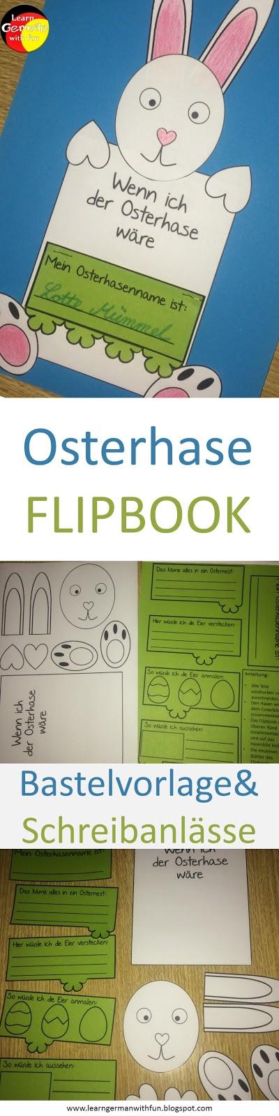 Basteln für Ostern in der Grundschule - Osterhase mit Flipbuch