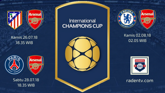 Streaming Arsenal ICC 2018