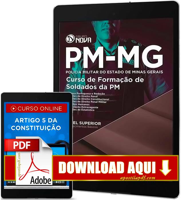 Apostila PMMG 2016 PDF Download Curso de Formação de Soldados