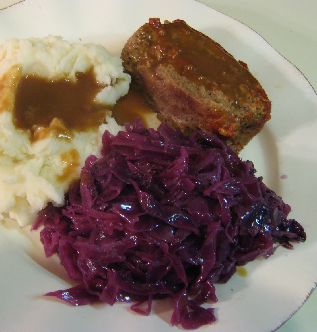 Christmas Meatloaf.I M Turning 60 Anna Sultana S Meatloaf And Red Cabbage