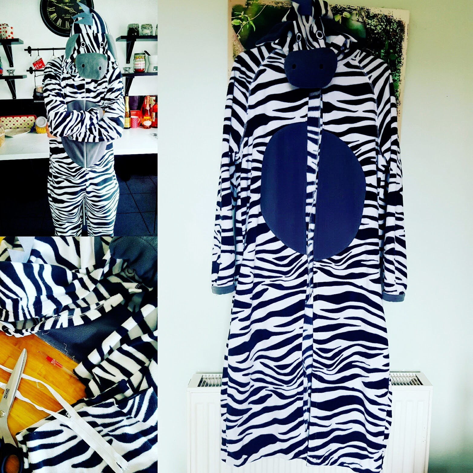Up-cycled: Onesie Into A Dressing Gown #Upcycled