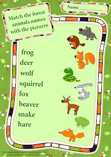 wild animals matching worksheet