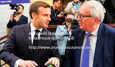 A accueilli la délégation britannique quittant l'UE