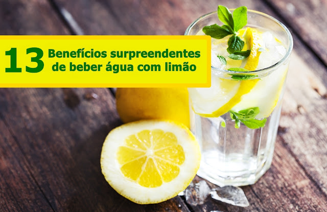 13 benefícios surpreendentes de beber água com limão