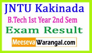 JNTU Kakinada B.Tech 1st Year 2nd Sem (R13/R10) Supply Dec 2016 Exam Results