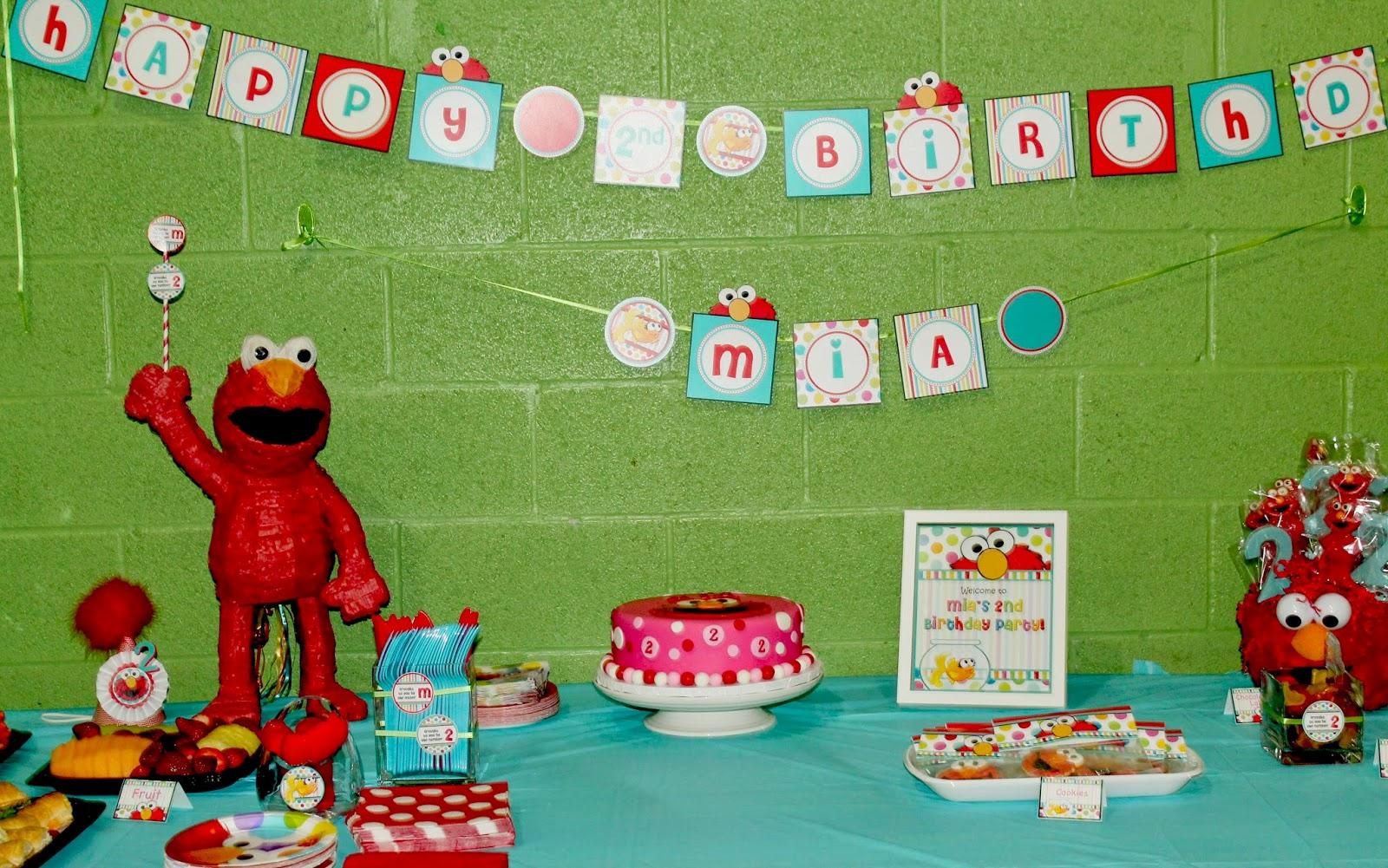 Mias 2nd Birthday Elmo Theme The Styled Child