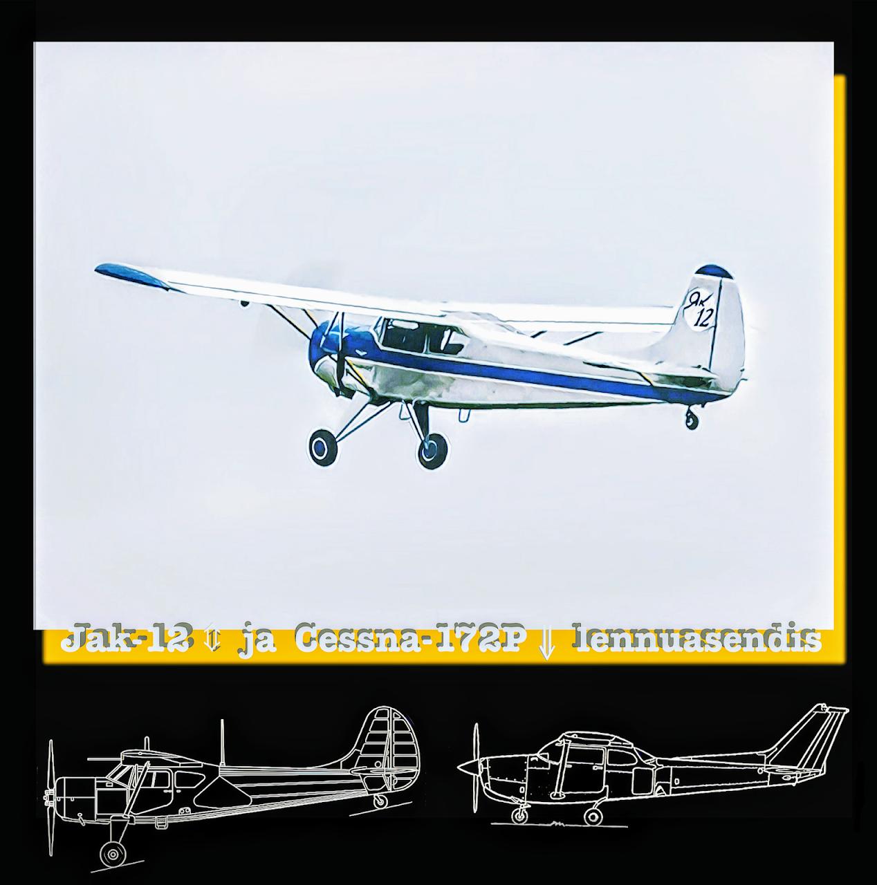 Lennukite värvigamma ja väliskuju võrdlus