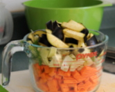 [left/top] Prep the vegetables for roasting
