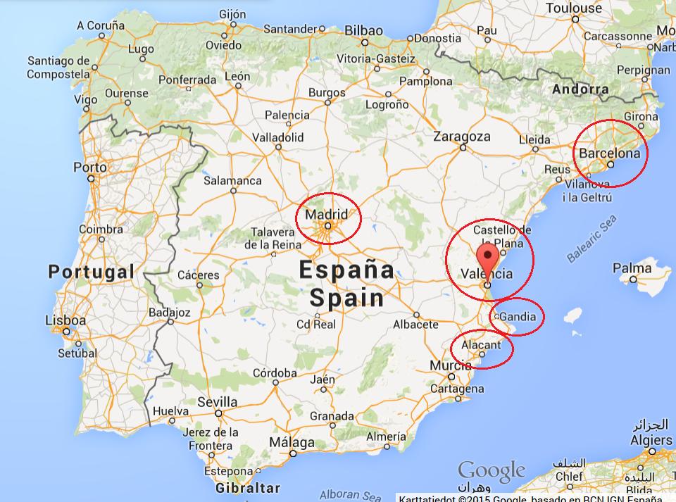 Espanja Lentokentät