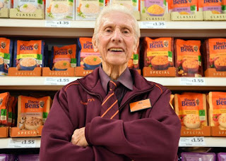 Britain's Oldest Supermarket Worker Set To Retire Aged 95