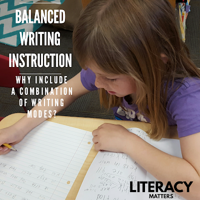 Balanced Writing Instruction:  Why include a combination of writing modes?  What does each mode have to offer?  Link to video of interactive writing.