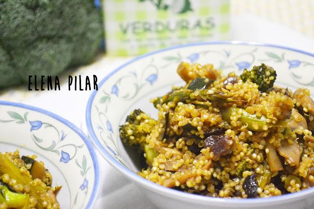 Quinoa con verduras y pasas