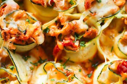 Easy 4-Ingredient Chicken Zucchini Rolls