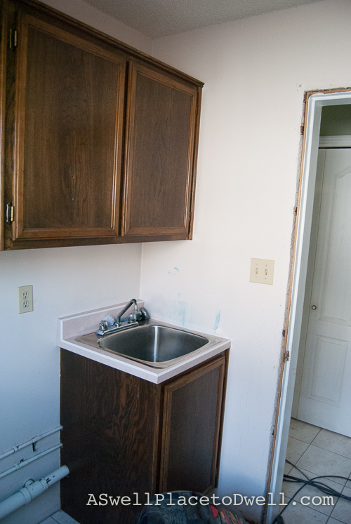 Laundry Room Before // ASwellPlacetoDwell.com