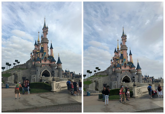 Disney Magic kingdom castle collage