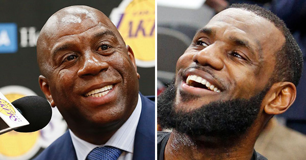 Magic Johnson and Lebron James