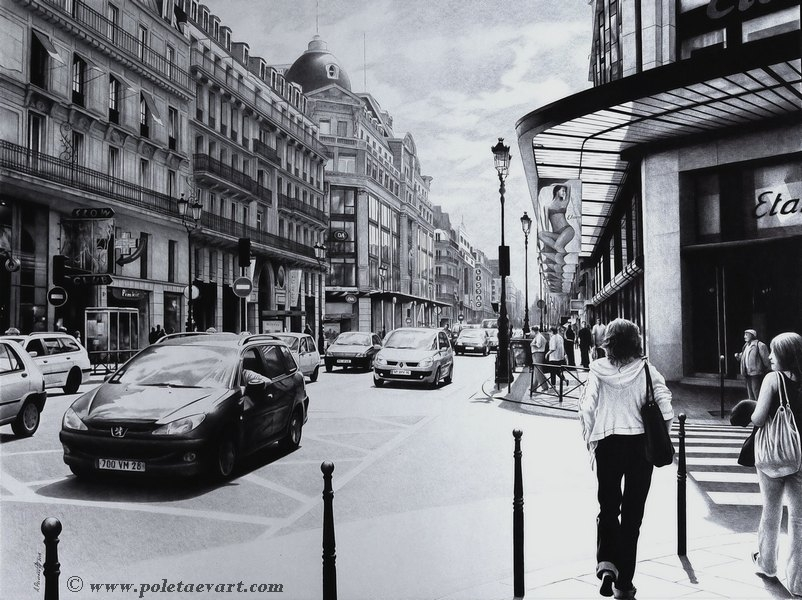 10-Parisian-Street-Andrey-Poletaev-Capturing-Architecture-with-Ballpoint-Pen-Drawings-www-designstack-co