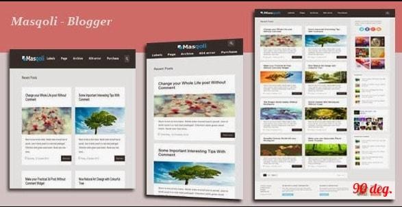 Masqoli v1.4 – Responsive Modern Blogger Template