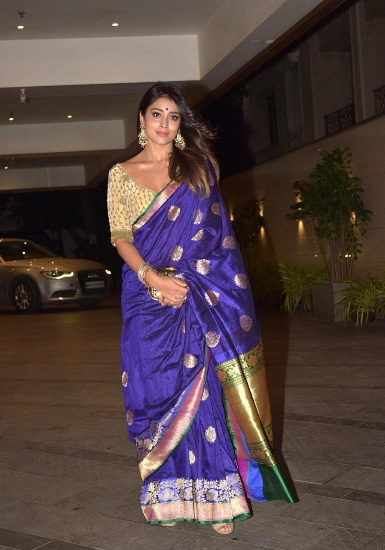 Indian Actress Shriya Saran at Jackky Bhagnani's Diwali Party In Mumbai