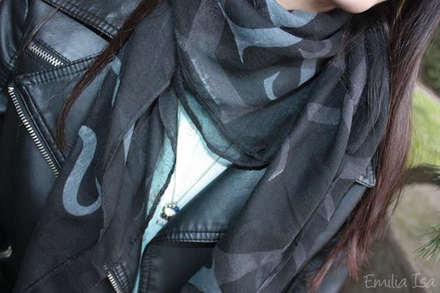 hiver écharpe noire