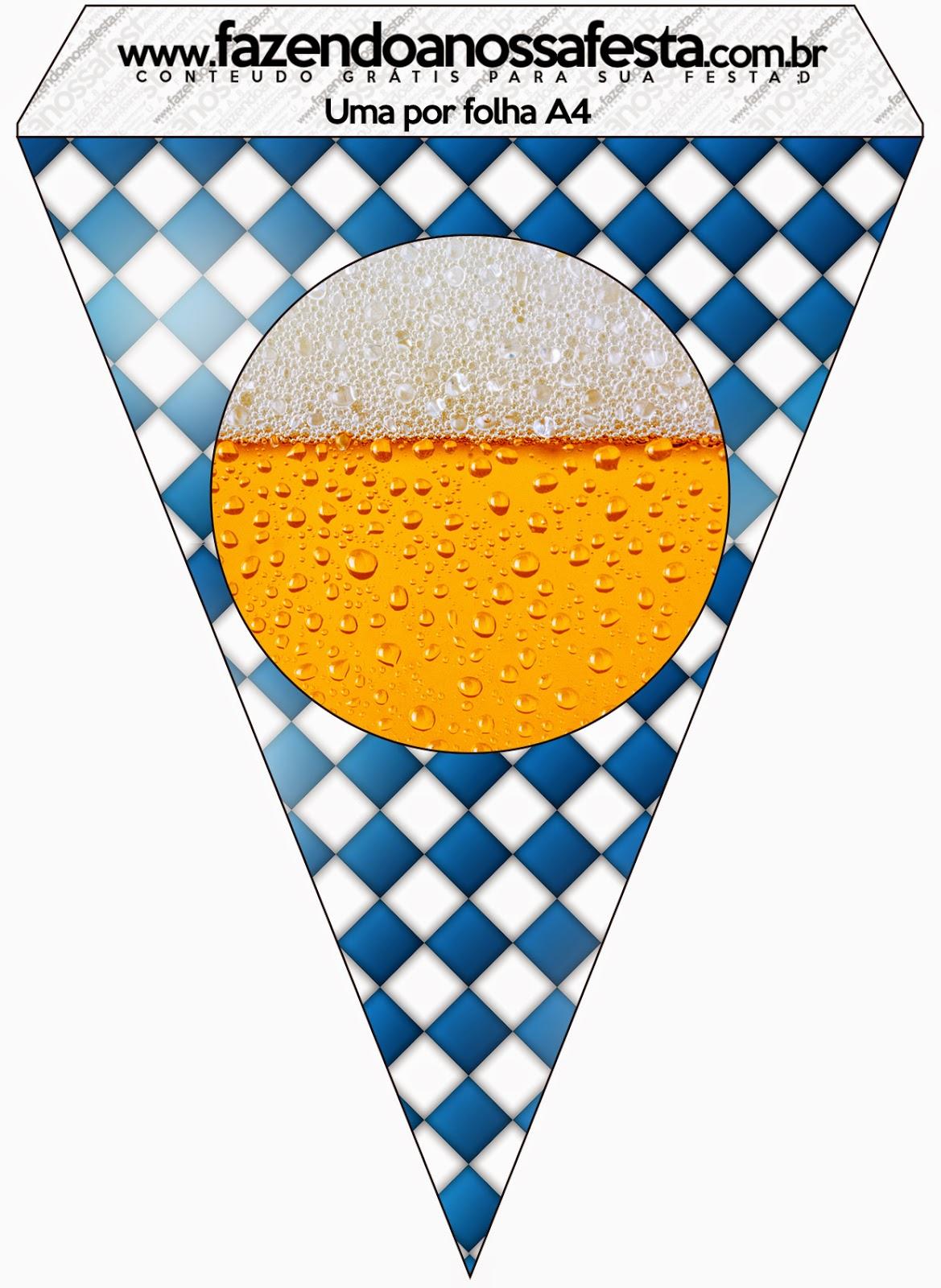 Banderines de Fiesta de la Cerveza para imprimir gratis.