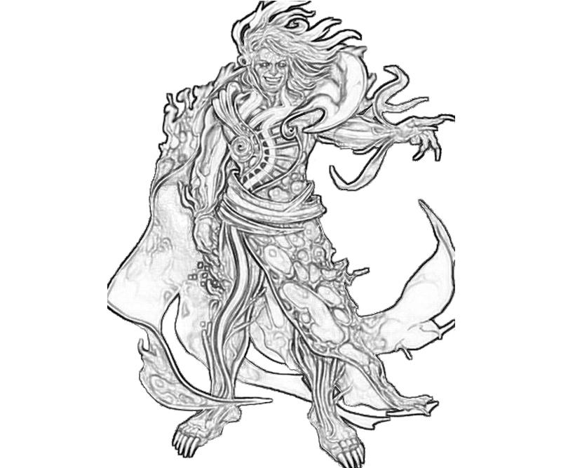 Hades Coloring Page Simple Kampe The Demon Of Tartarus Coloring