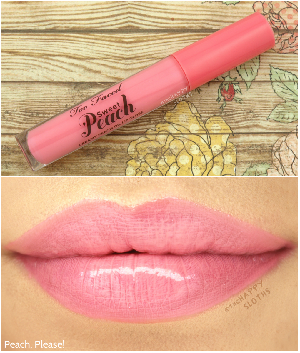 Too Faced Sweet Peach Lip Gloss Peach, Please!