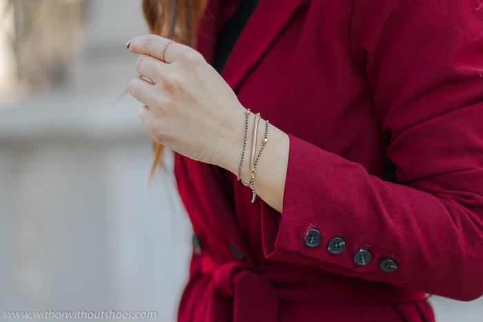 pulsera brazalete oro dorado Leontina Alascio