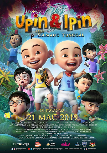Sinopsis filem Pengembaraan Geng Upin Ipin Keris Siamang Tunggal