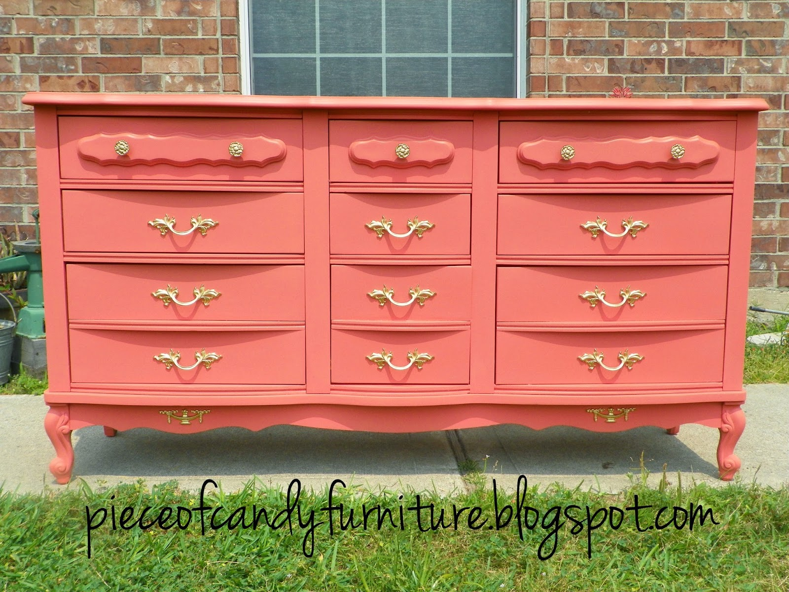Piece Of Candy Furniture French Provincial 9 Drawer Dresser Painted C