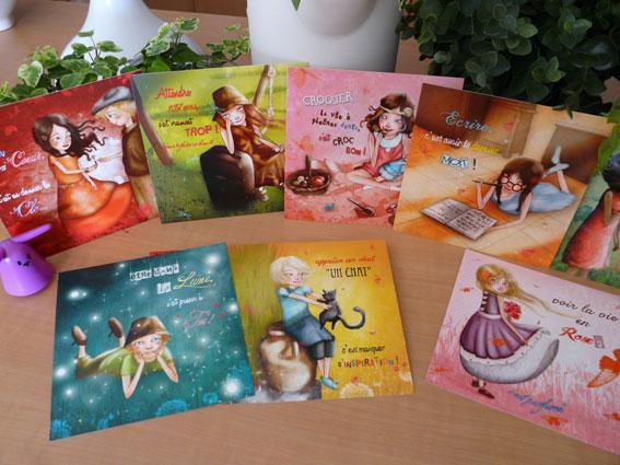 cartes d'art, cartes postales