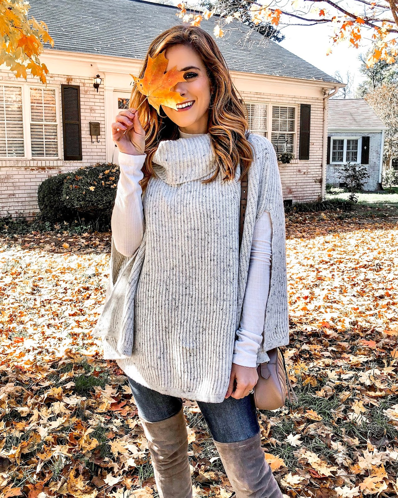 The Affordable Sweater Poncho Only $30    | The Dainty Darling