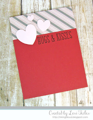 Hugs and Kisses card-designed by Lori Tecler/Inking Aloud-stamps and dies from Reverse Confetti