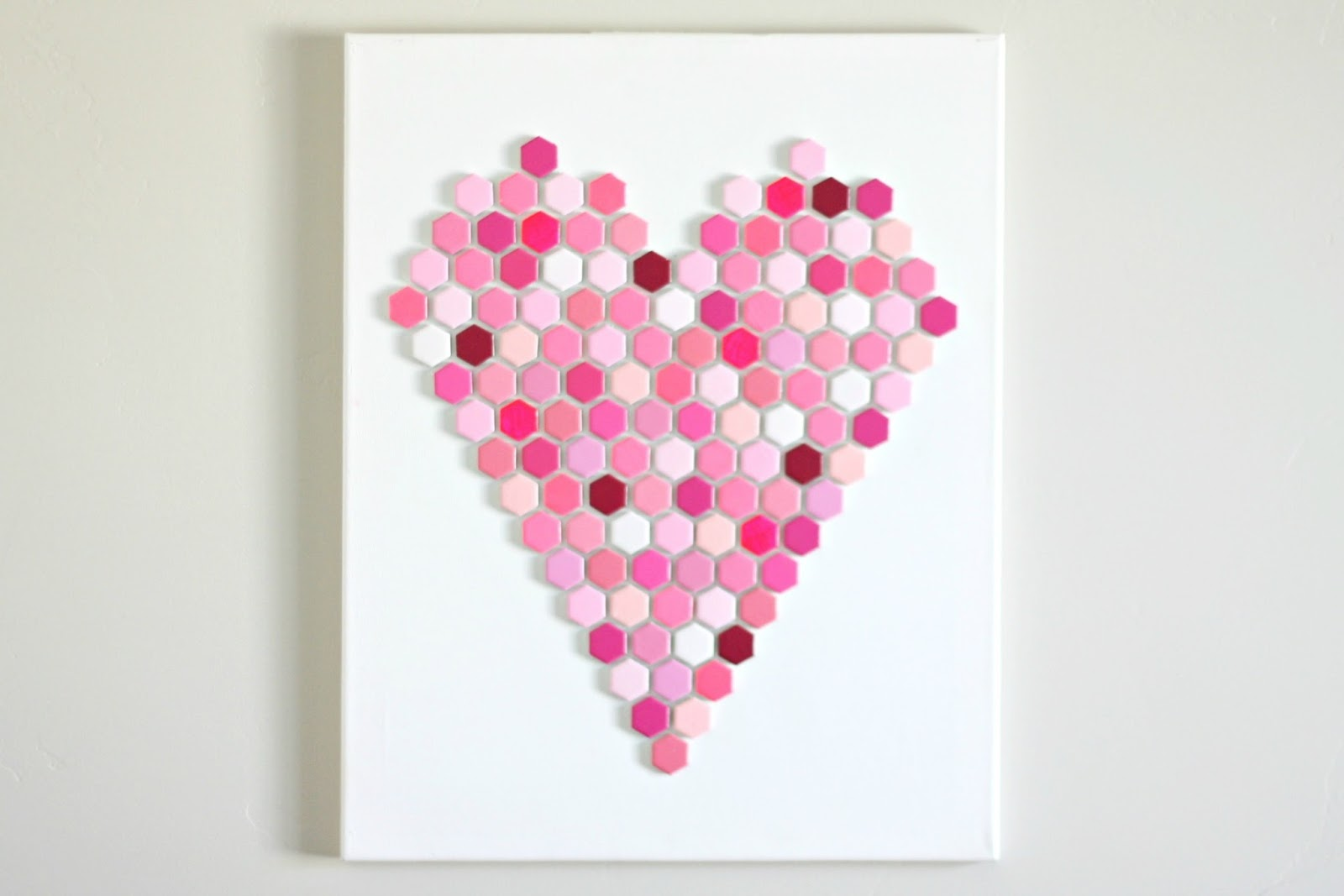 diy hexagon tile heart art 1