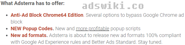 Anti-Adblock Ad networks for publishers (chrome 64