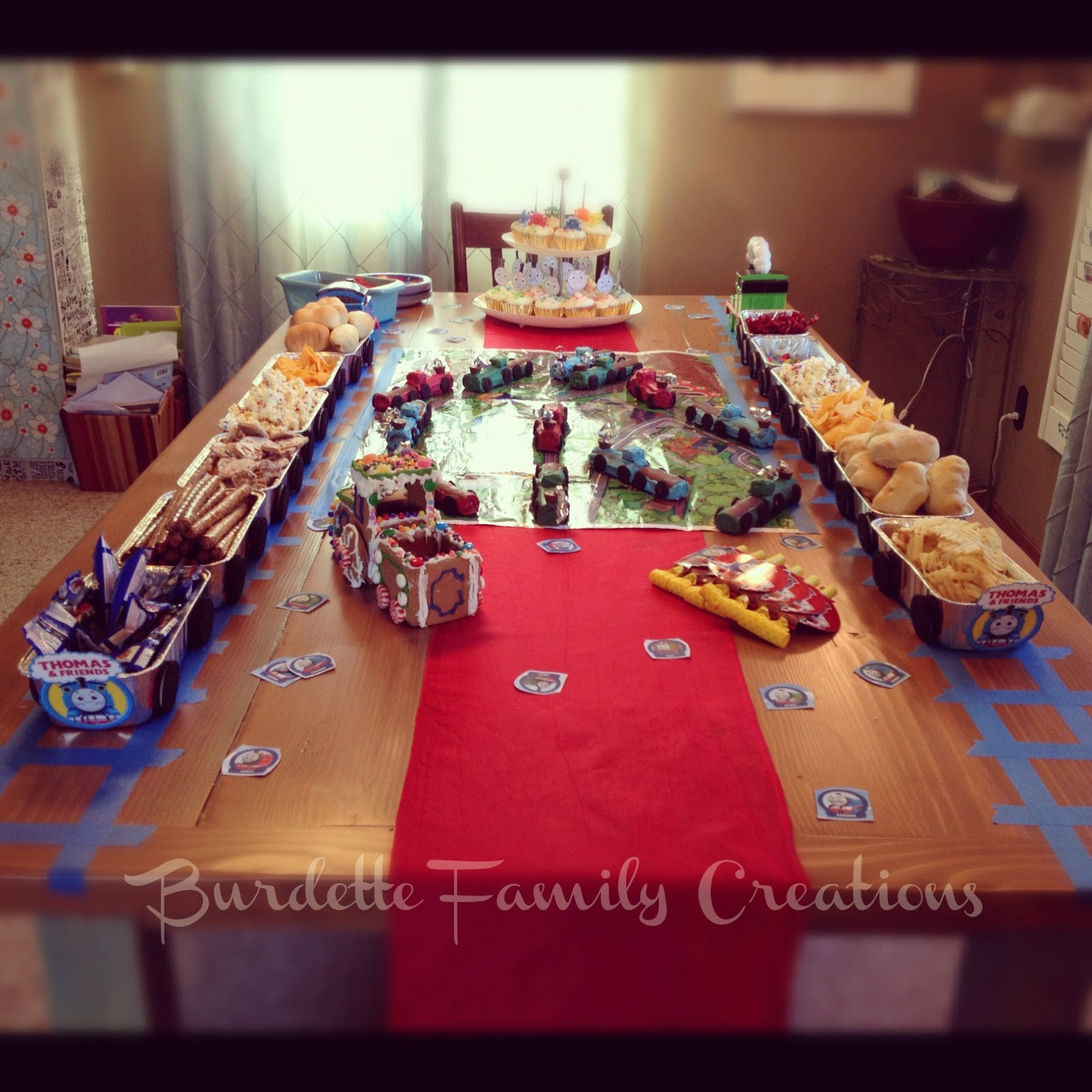 Train Birthday Party: Burdette Family Creations: Thomas The Train Birthday Party
