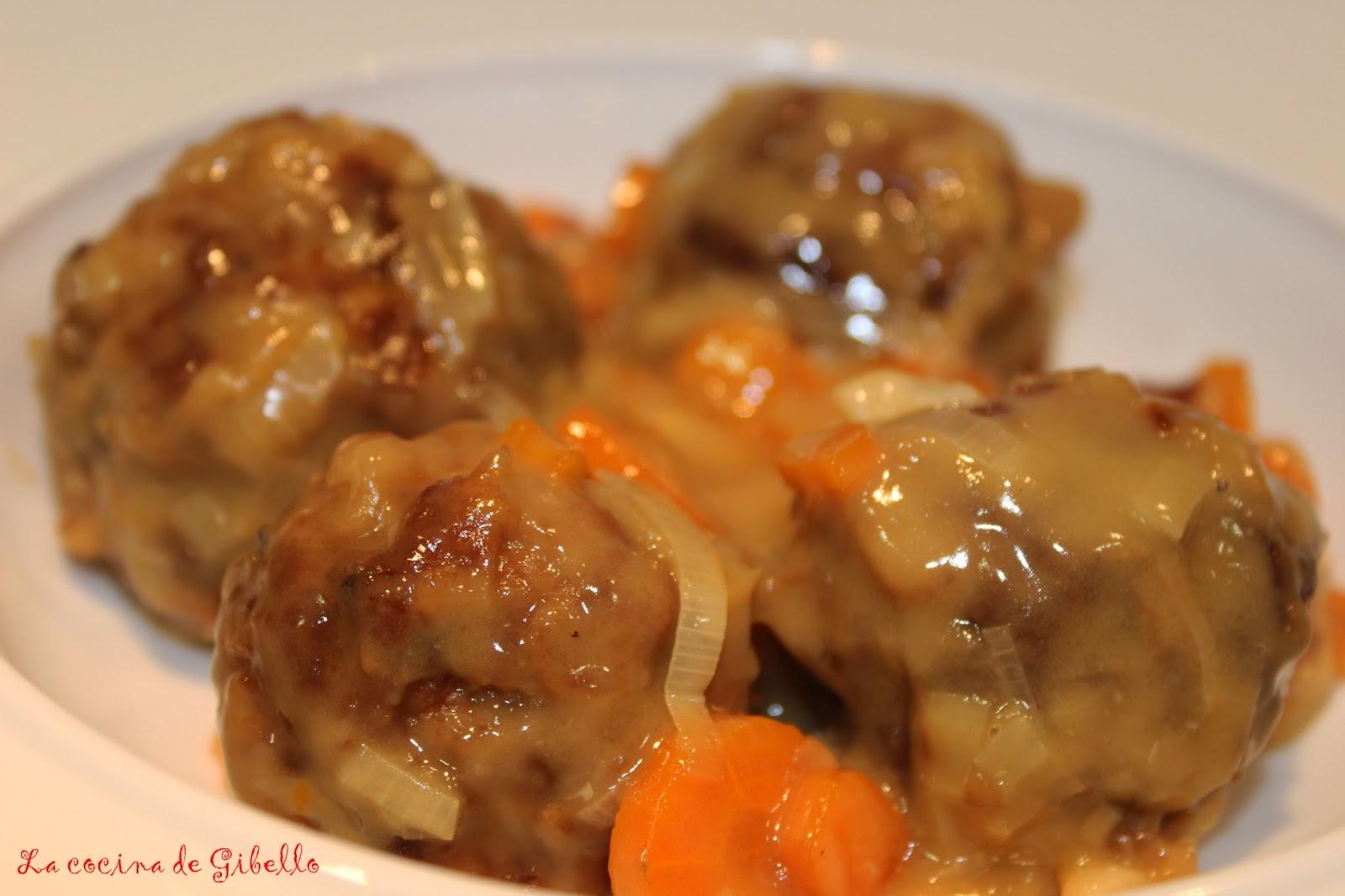 La cocina de gibello albondigas de ternera en salsa de - Albondigas de verdura ...