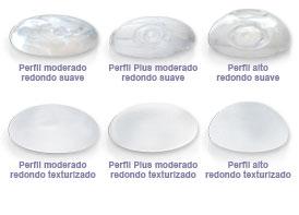 Tipos de implantes de gel de silicona altamente cohesiva Mentor disponible paquetes Salutaris Guadalajara