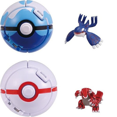 Kyogre figure regular size Takara Tomy MONCOLLE EX PokeDel-Z with Dive Ball
