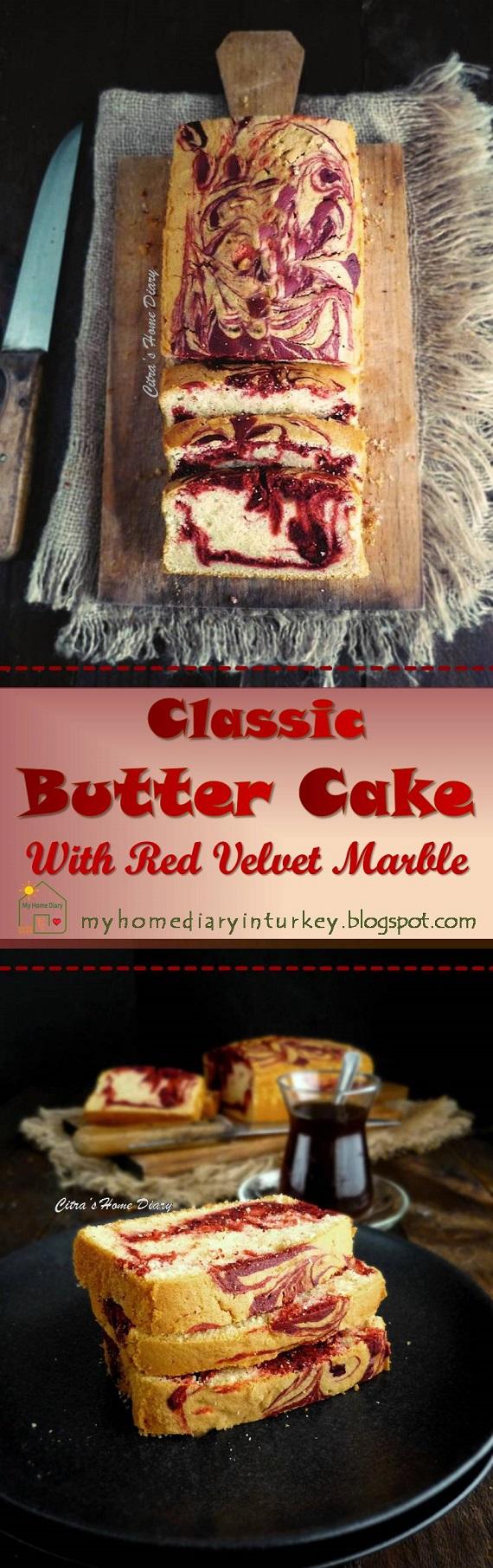 Red Velvet Marble Butter Cake. #redvelvet #marblecake #buttercake #cakerecipe